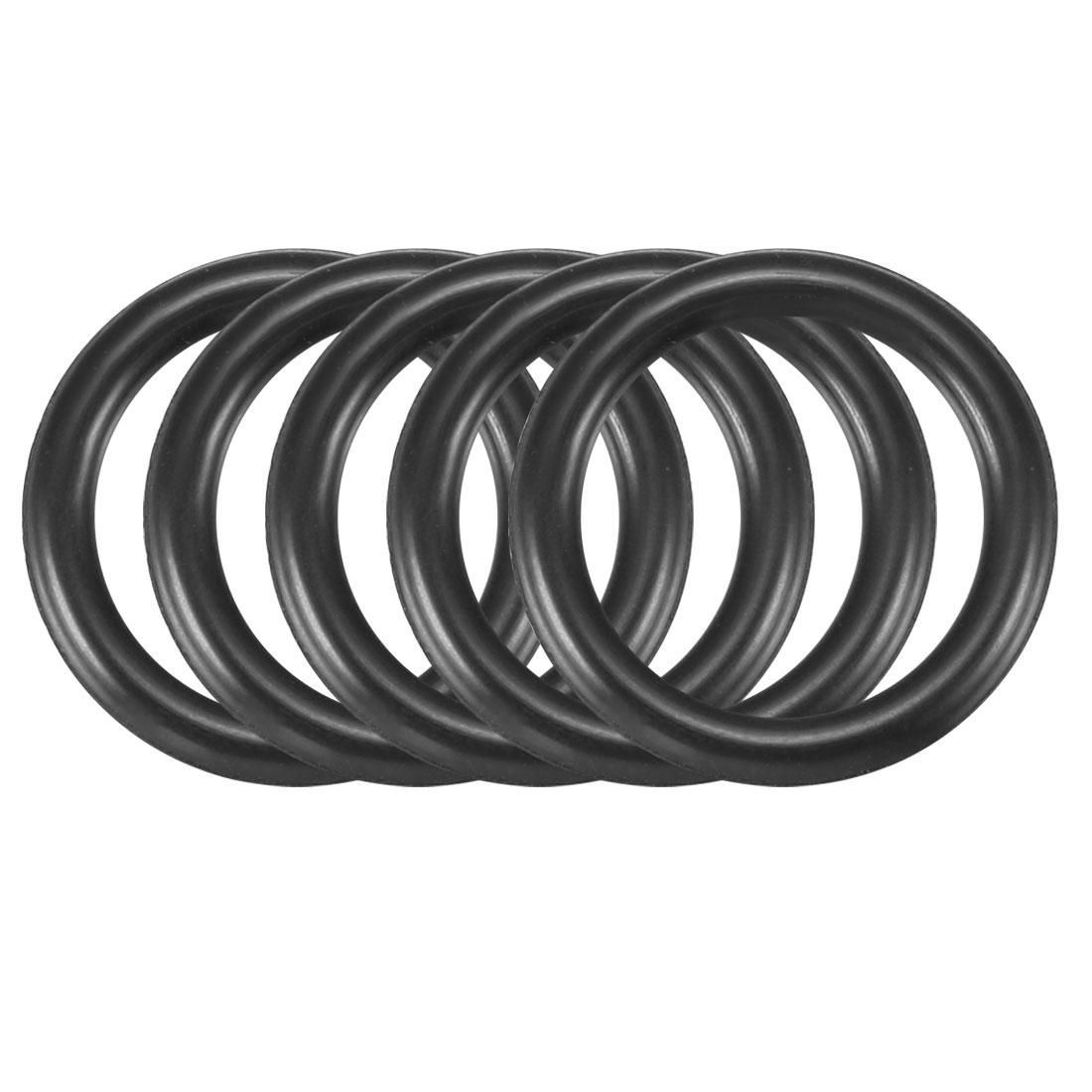 30pcs Black Nitrile Butadiene Rubber NBR O-Ring 13.2mm Inner Dia 2.4mm Width