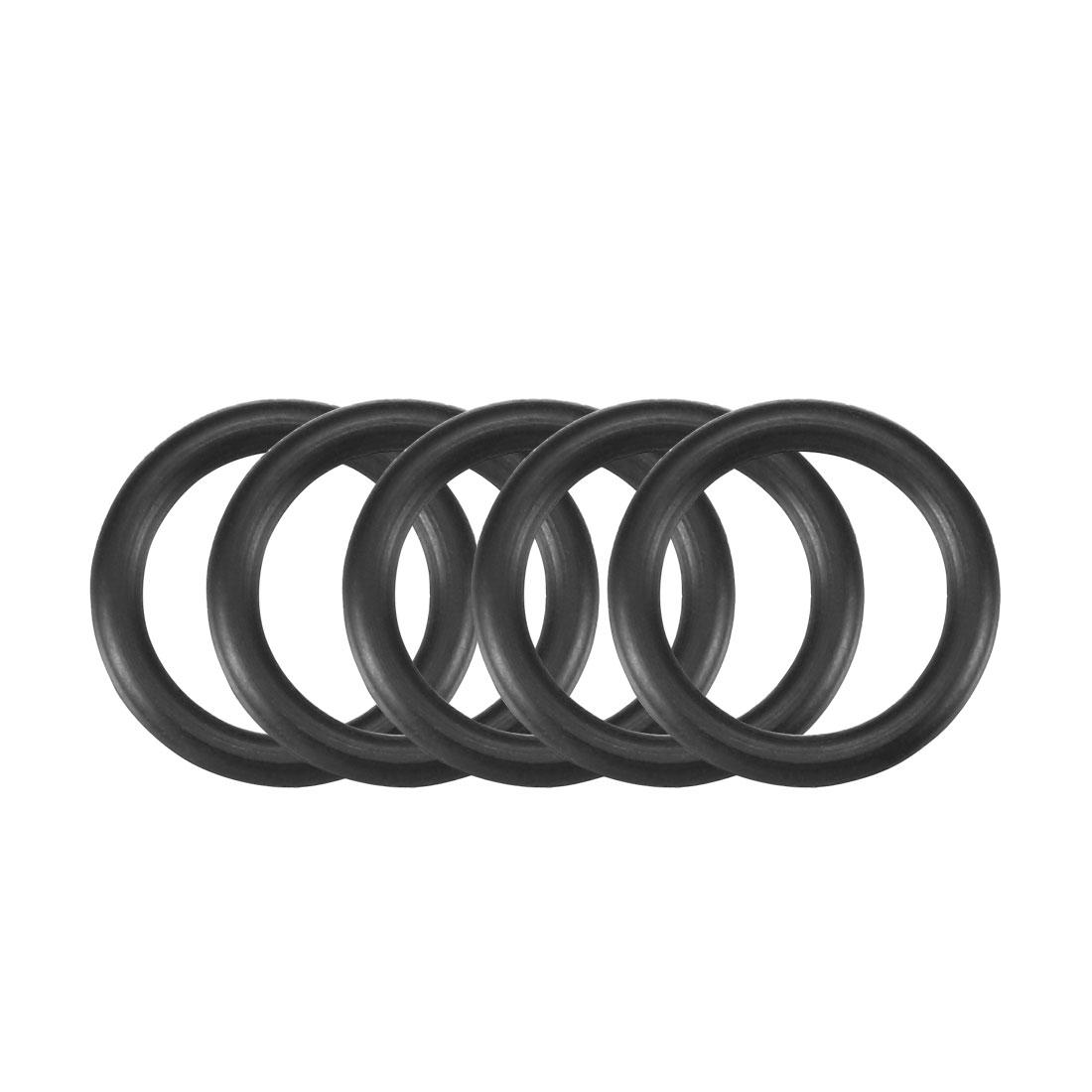 30pcs Black Nitrile Butadiene Rubber NBR O-Ring 9.8mm Inner Dia 1.9mm Width