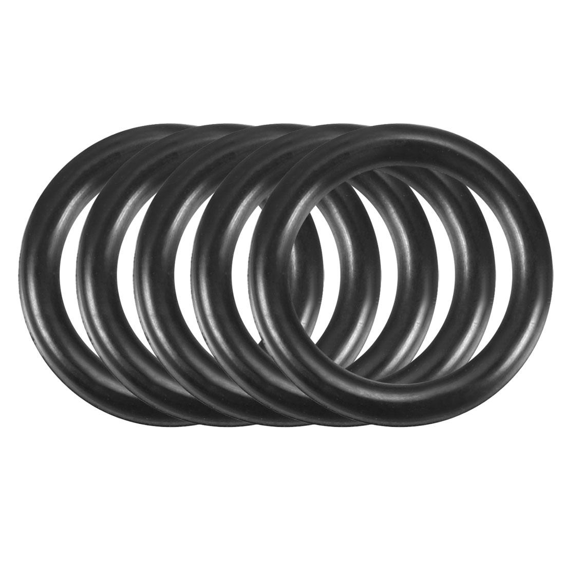 50pcs Black Nitrile Butadiene Rubber NBR O-Ring 9.8mm Inner Dia 1.9mm Width