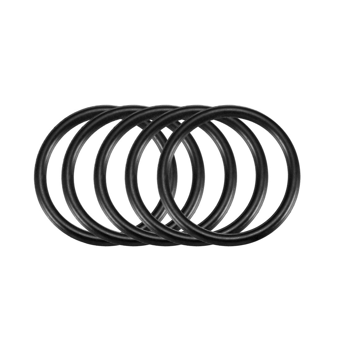 50pcs Black Nitrile Butadiene Rubber NBR O-Ring 18mm Inner Dia 1.9mm Width