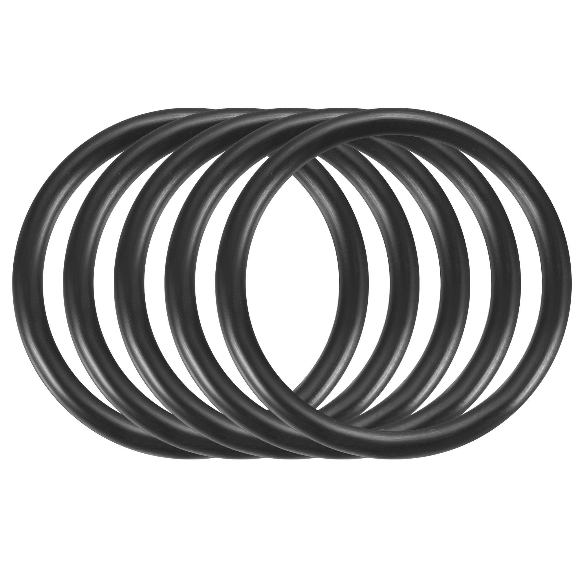 30pcs Black Nitrile Butadiene Rubber NBR O-Ring 23mm Inner Dia 2.5mm Width