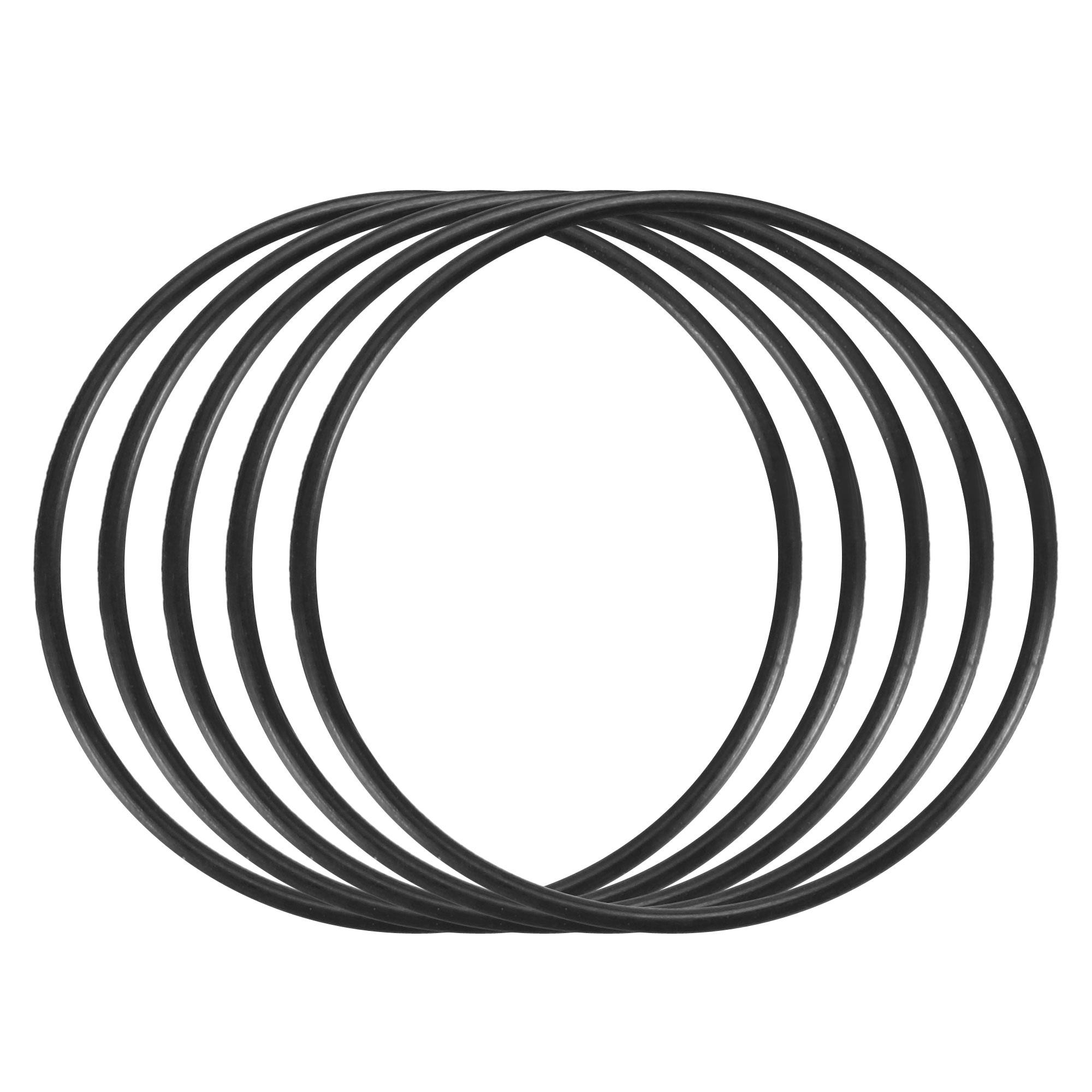 5pcs Black Nitrile Butadiene Rubber NBR O-Ring 26mm Inner Dia 1mm Width