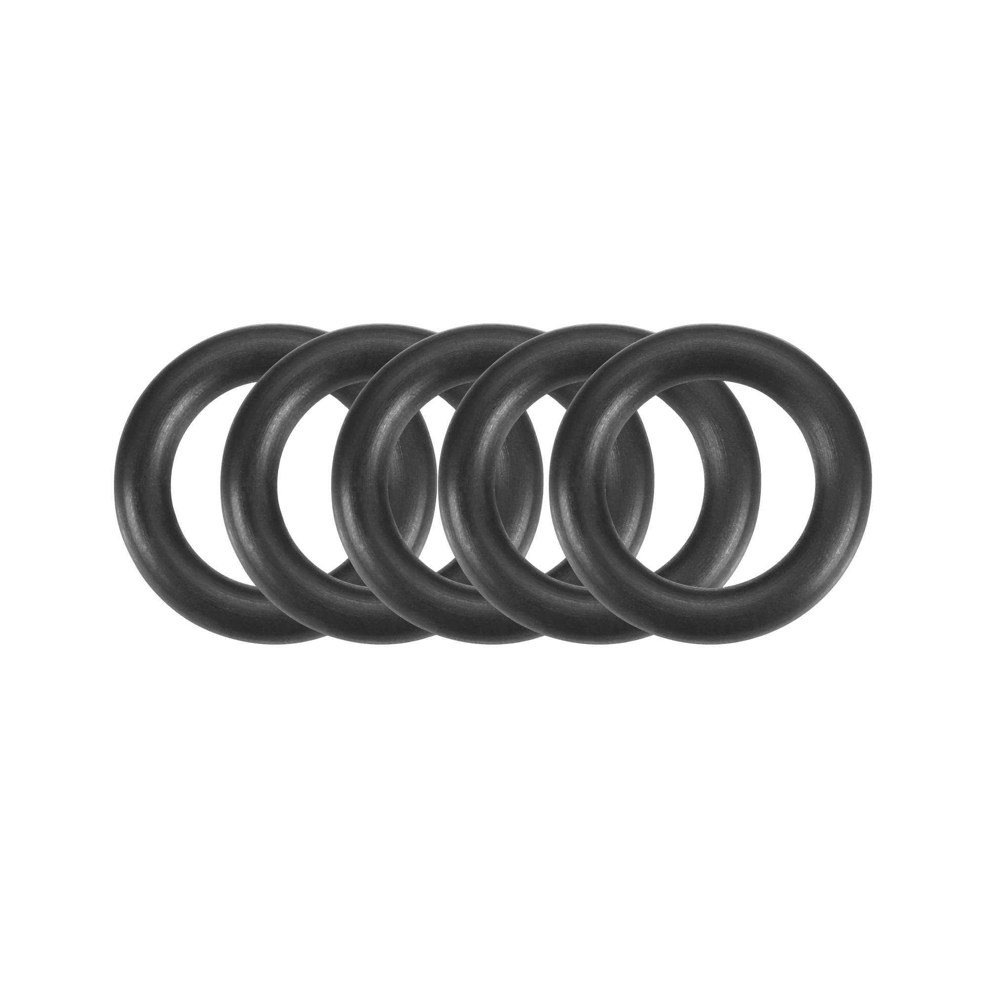 30pcs Black Nitrile Butadiene Rubber NBR O-Ring 7mm Inner Dia 2mm Width