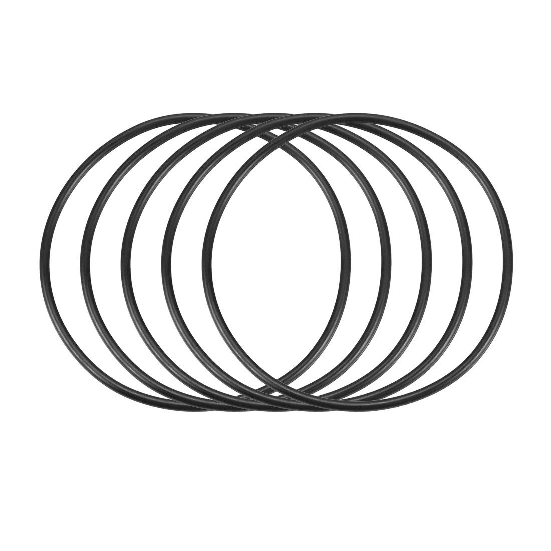 50pcs Black Nitrile Butadiene Rubber NBR O-Ring 67mm Inner Dia 2.4mm Width