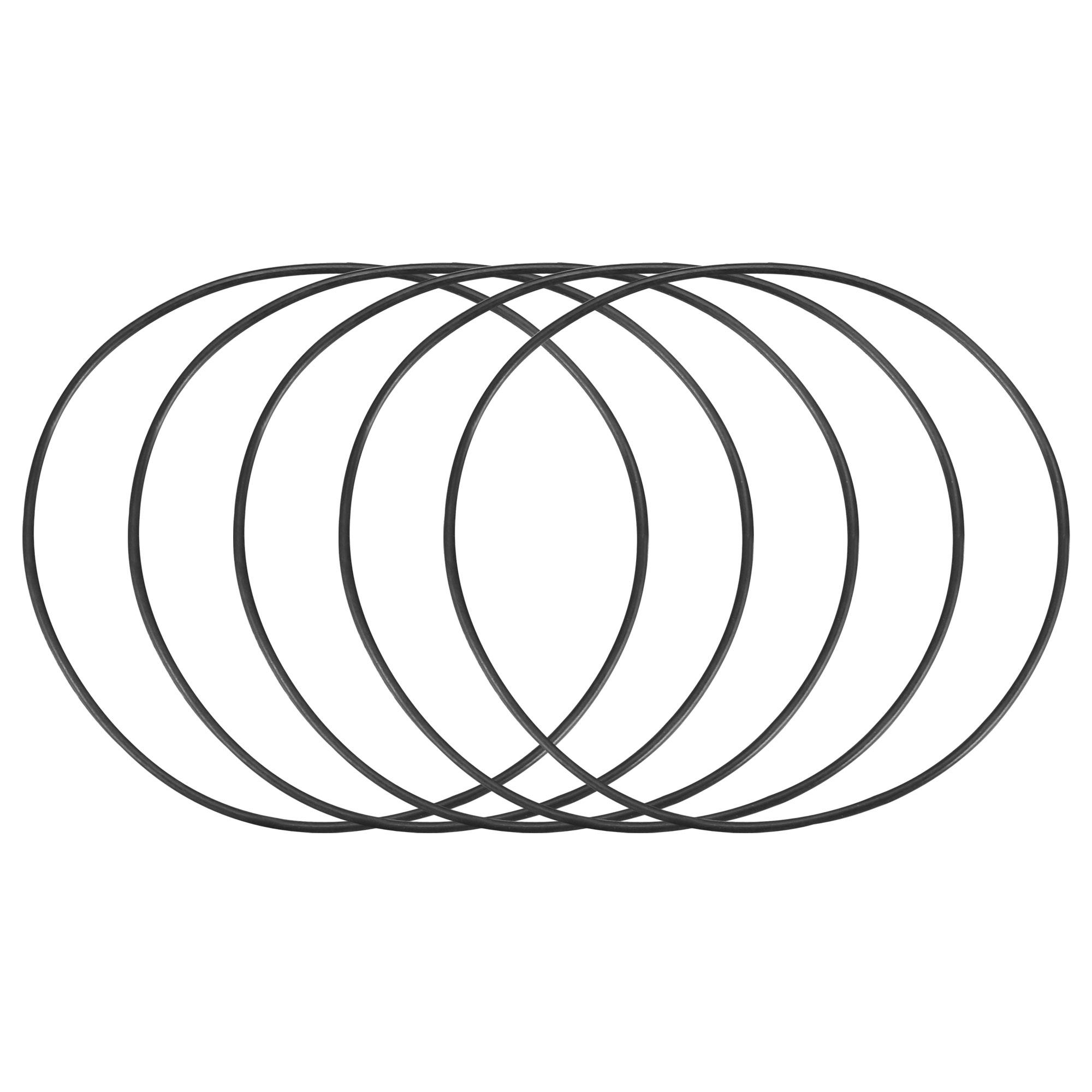 5pcs Black Nitrile Butadiene Rubber NBR O-Ring 48mm Inner Dia 1mm Width