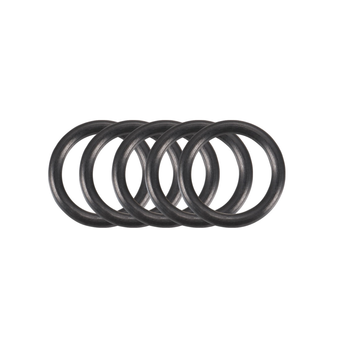 50pcs Black Nitrile Butadiene Rubber NBR O-Ring 6.8mm Inner Dia 1.3mm Width