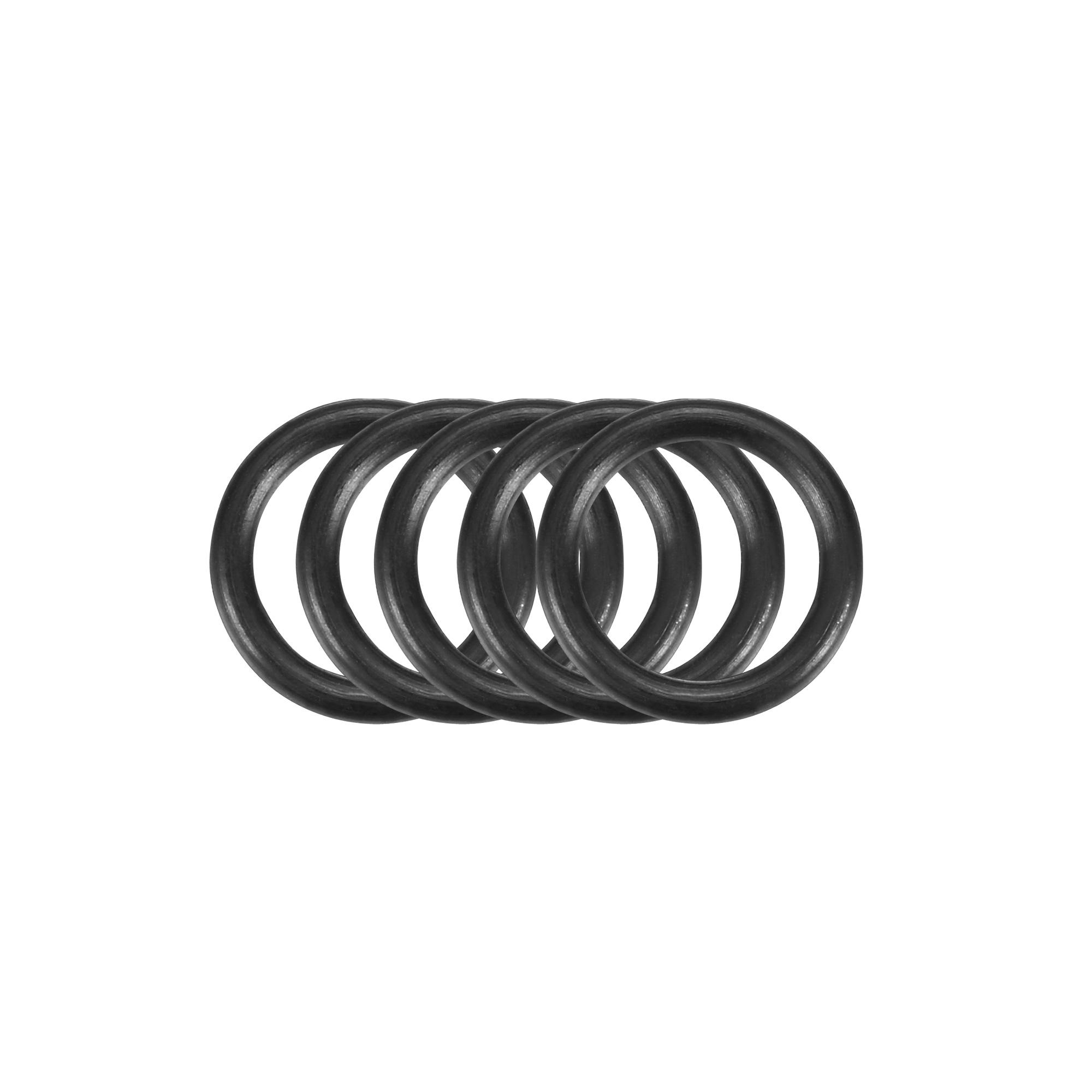 5pcs Black Nitrile Butadiene Rubber NBR O-Ring 7.5mm Inner Dia 1mm Width