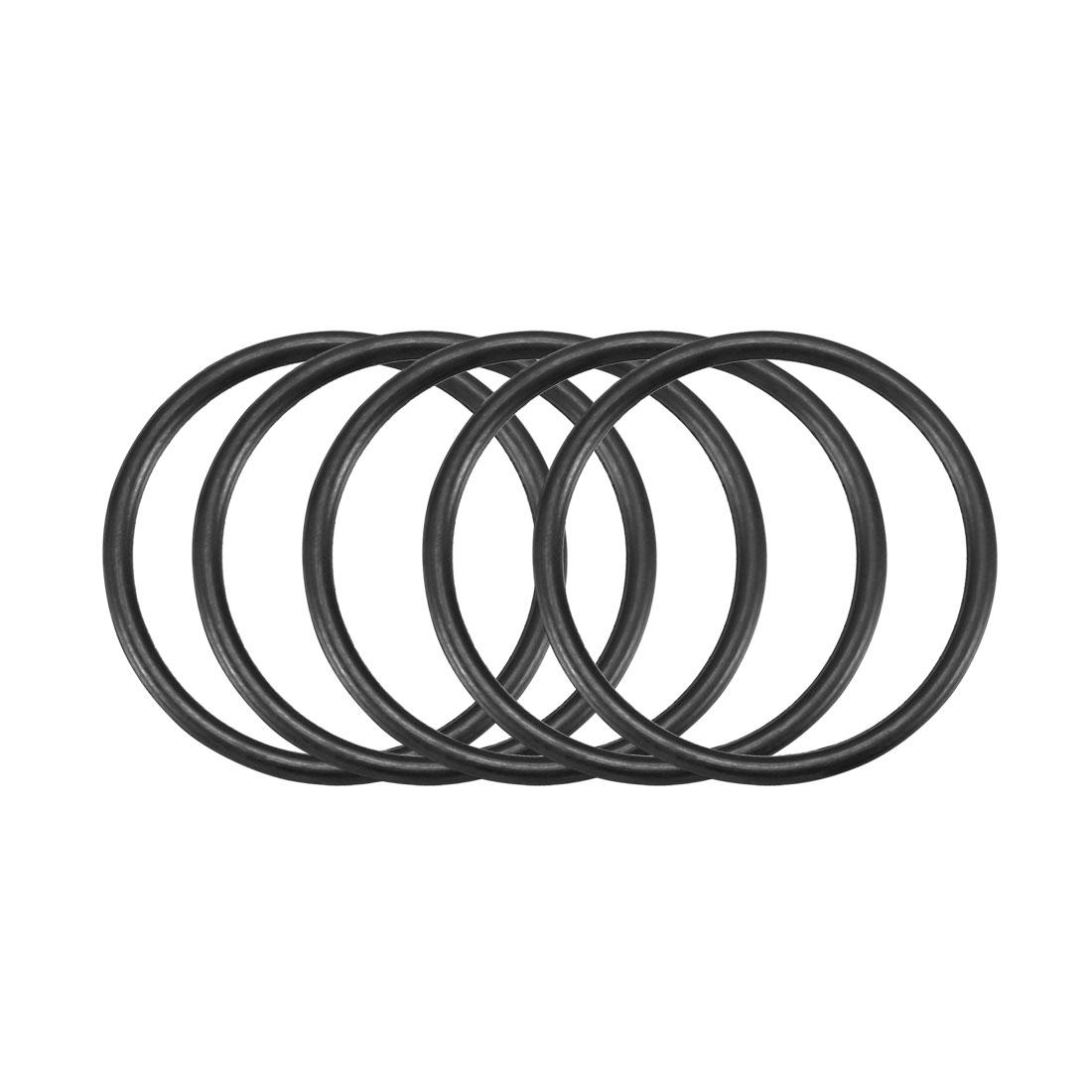 30pcs Black Nitrile Butadiene Rubber NBR O-Ring 20mm Inner Dia 1.5mm Width