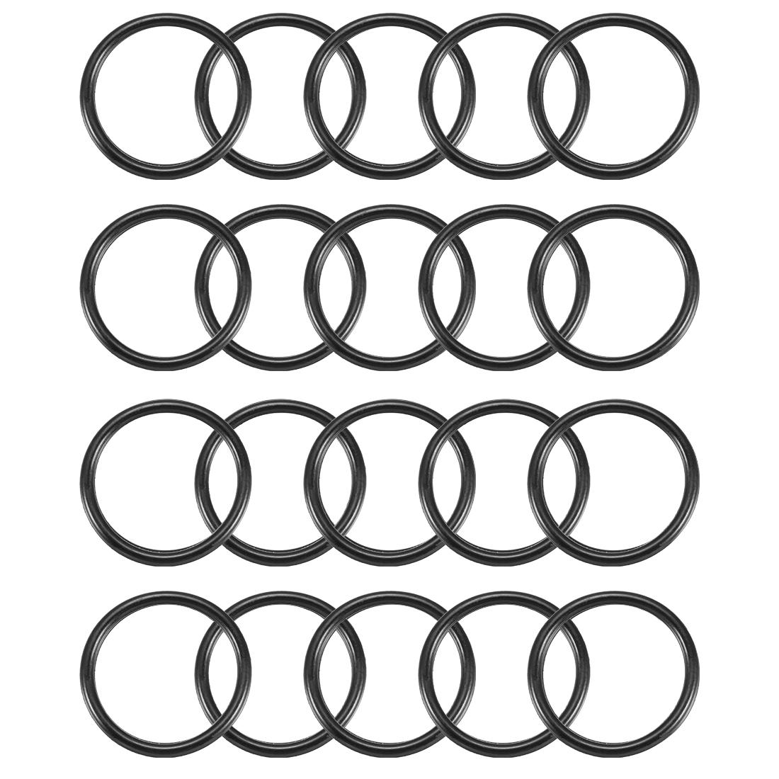 20pcs Black Nitrile Butadiene Rubber NBR O-Ring 27mm Inner Dia 2.5mm Width