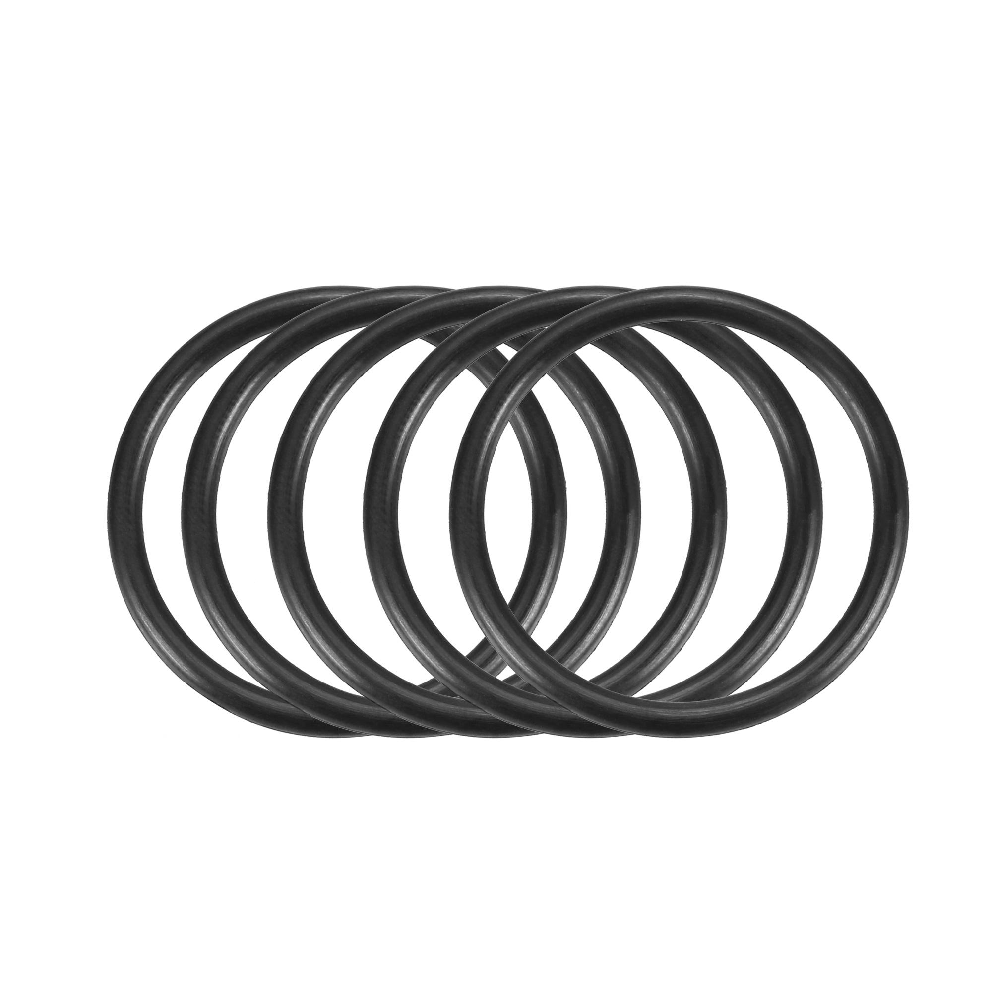30pcs Black Nitrile Butadiene Rubber NBR O-Ring 27mm Inner Dia 2.5mm Width