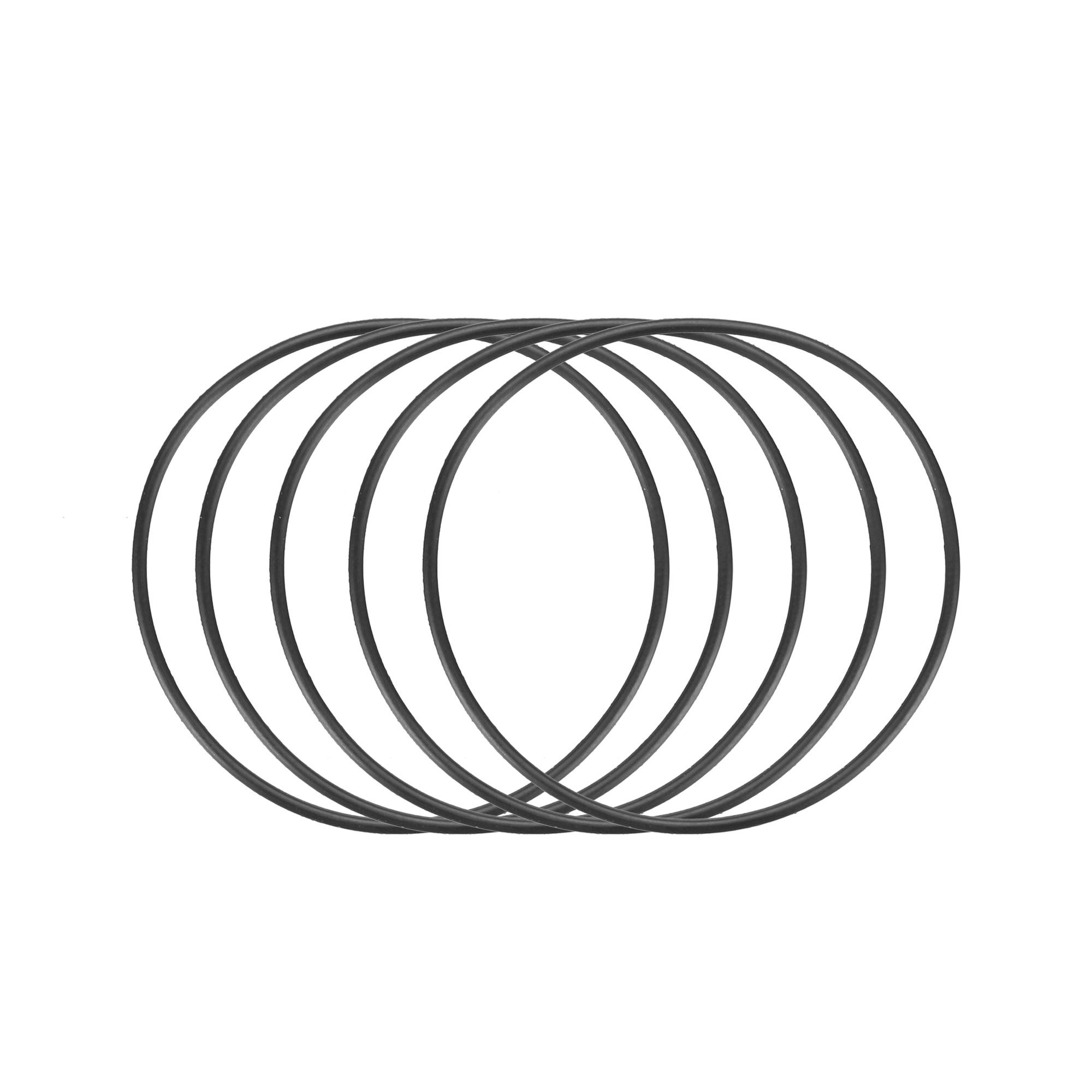 30pcs Black Nitrile Butadiene Rubber NBR O-Ring 33mm Inner Dia 1mm Width