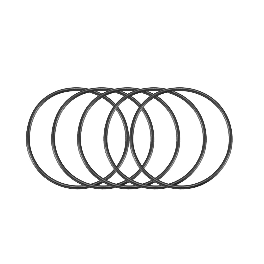 30pcs Black Nitrile Butadiene Rubber NBR O-Ring 24.5mm Inner Dia 1mm Width