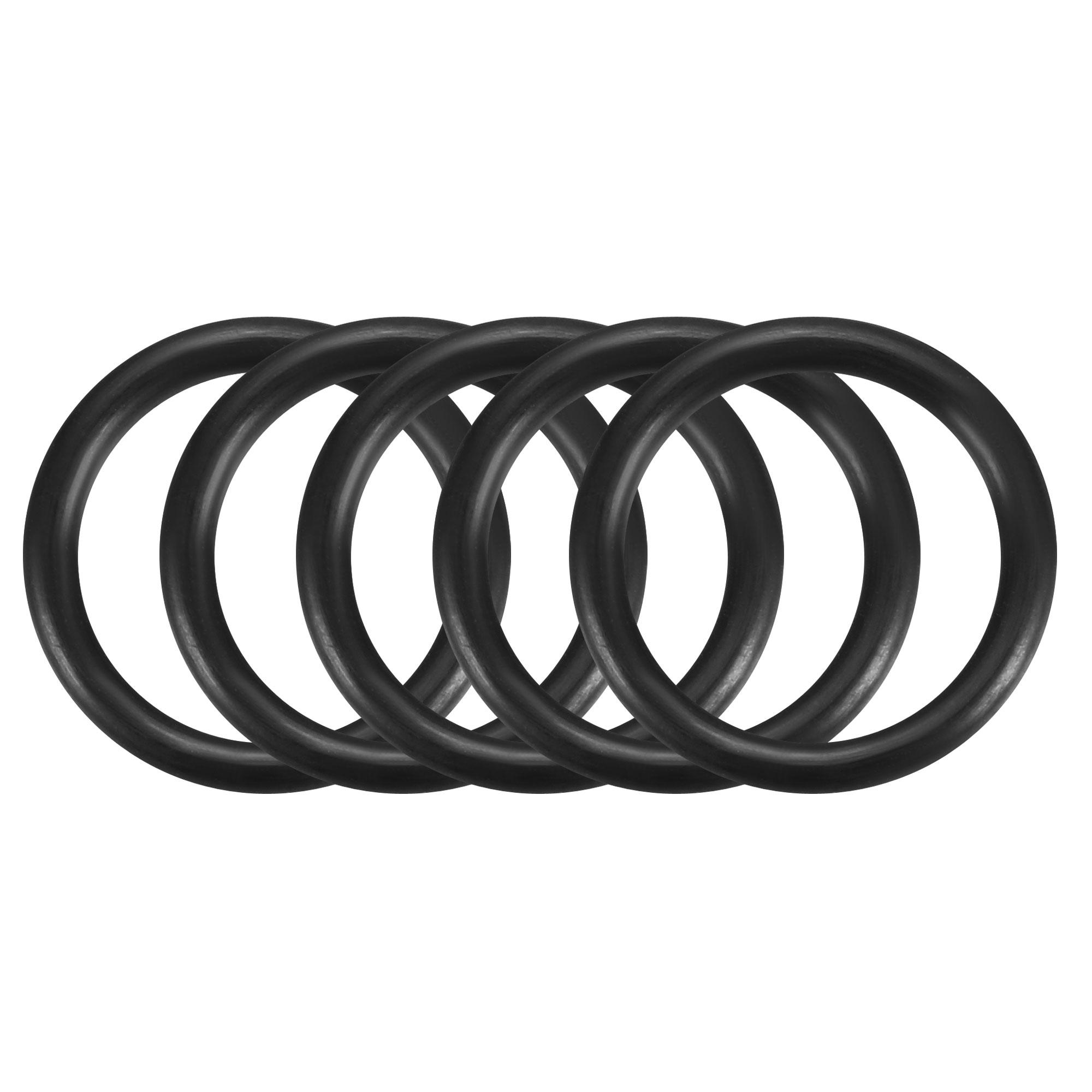5pcs Black Nitrile Butadiene Rubber NBR O-Ring 11.8mm Inner Dia 1.8mm Width
