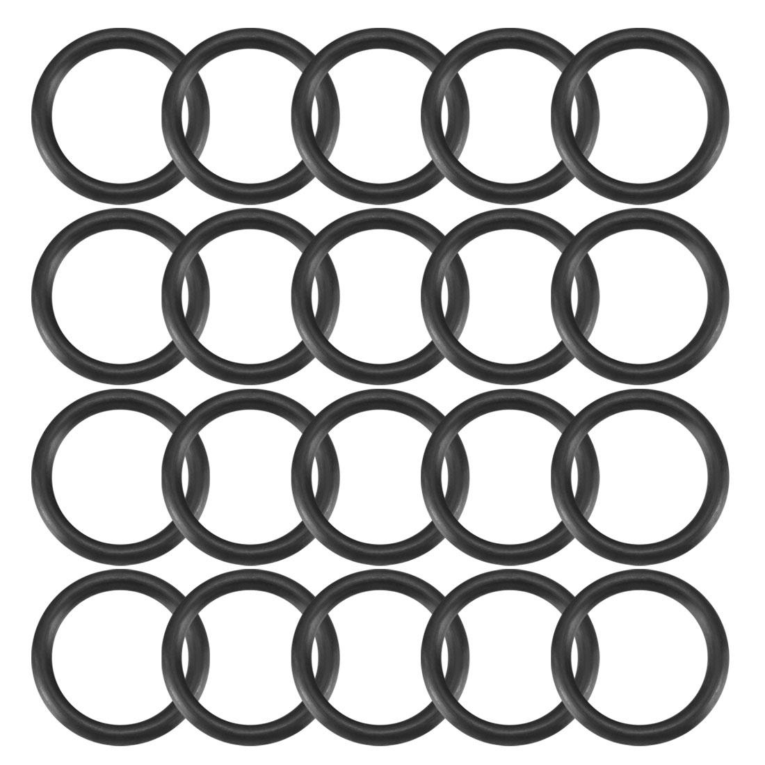 20pcs Black Nitrile Butadiene Rubber NBR O-Ring 14.8mm Inner Dia 2.4mm Width