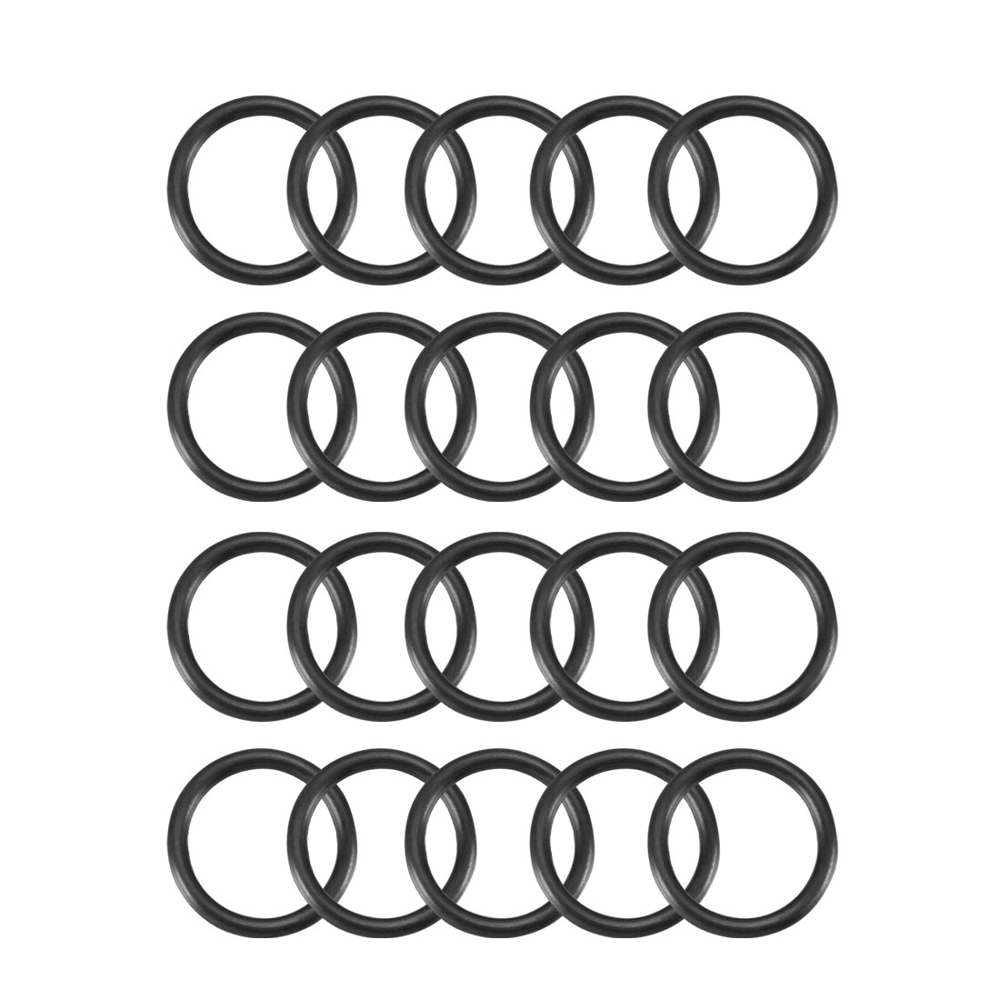 20pcs Black Nitrile Butadiene Rubber NBR O-Ring 12.42mm Inner Dia 1.78mm Width