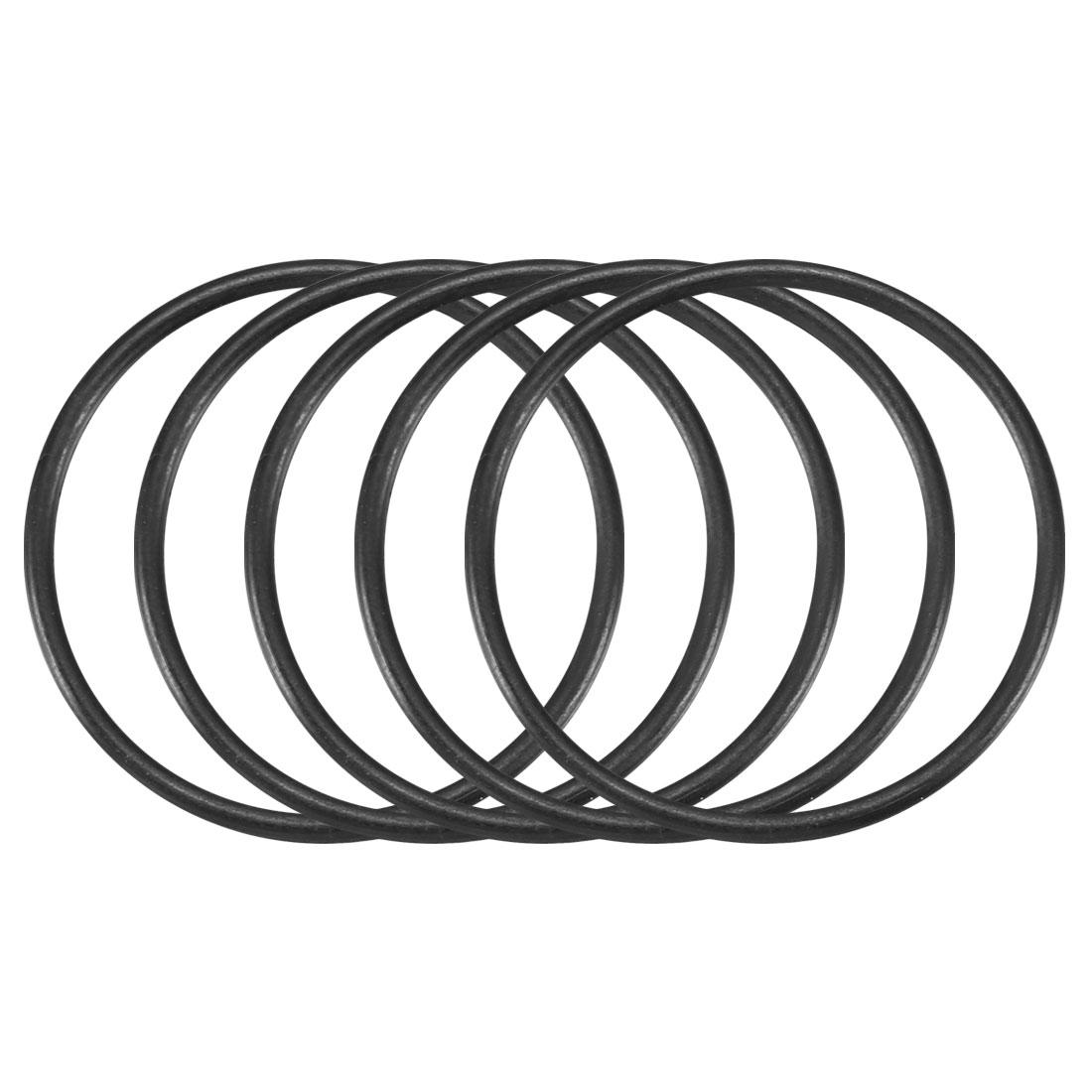 30pcs Black Nitrile Butadiene Rubber NBR O-Ring 25mm Inner Dia 1.5mm Width