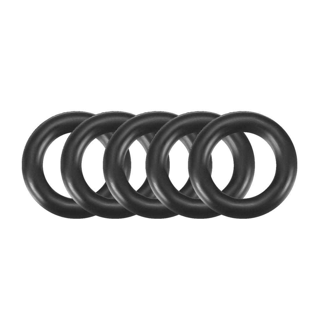 30pcs Black Nitrile Butadiene Rubber NBR O-Ring 4.5mm Inner Dia 1.5mm Width