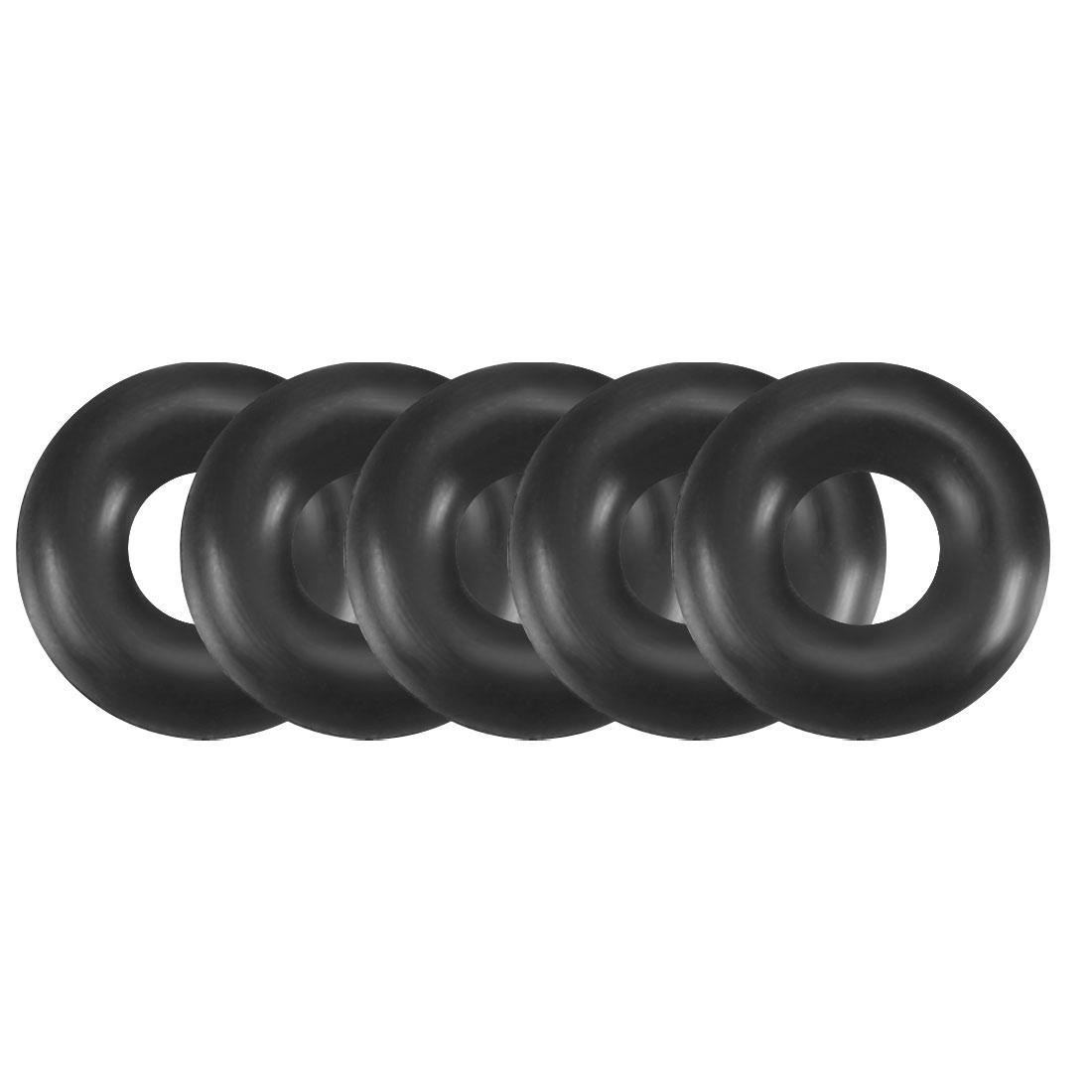 50pcs Black Nitrile Butadiene Rubber NBR O-Ring 2.24mm Inner Dia 1.8mm Width