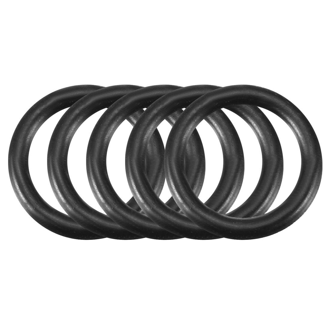 5pcs Black Nitrile Butadiene Rubber NBR O-Ring 9.25mm Inner Dia 1.78mm Width