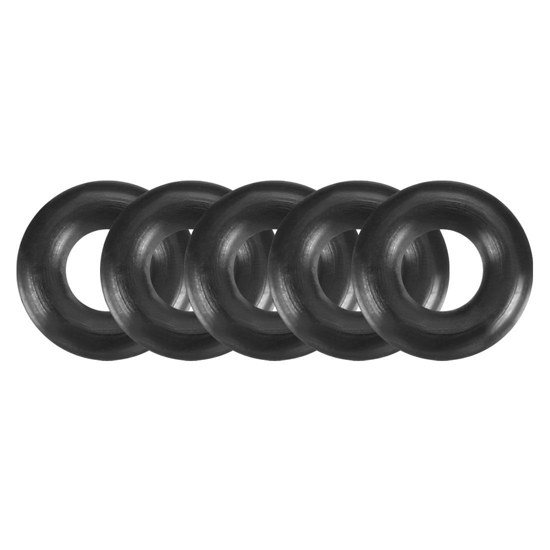 50pcs Black Nitrile Butadiene Rubber NBR O-Ring 2.5mm Inner Dia 2mm Width