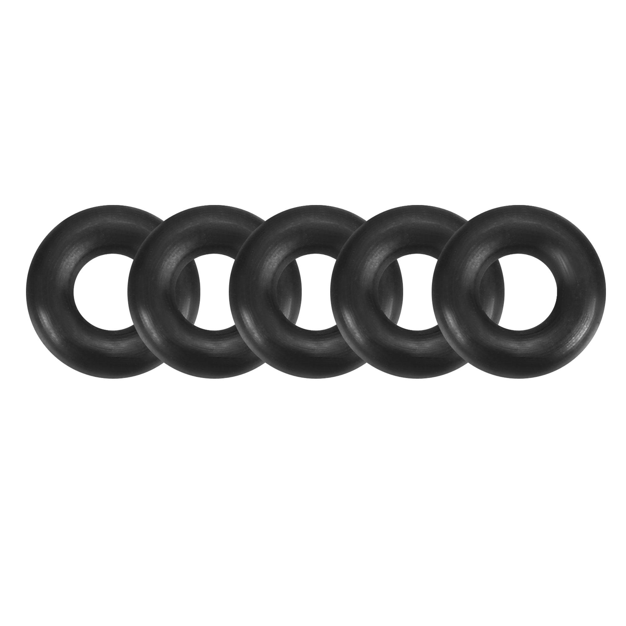 5pcs Black Nitrile Butadiene Rubber NBR O-Ring 2.5mm Inner Dia 2mm Width