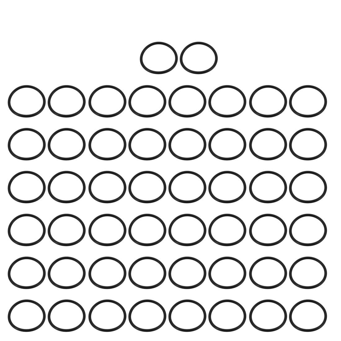 50pcs Black Nitrile Butadiene Rubber NBR O-Ring 27.24mm Inner Dia 2.4mm Width