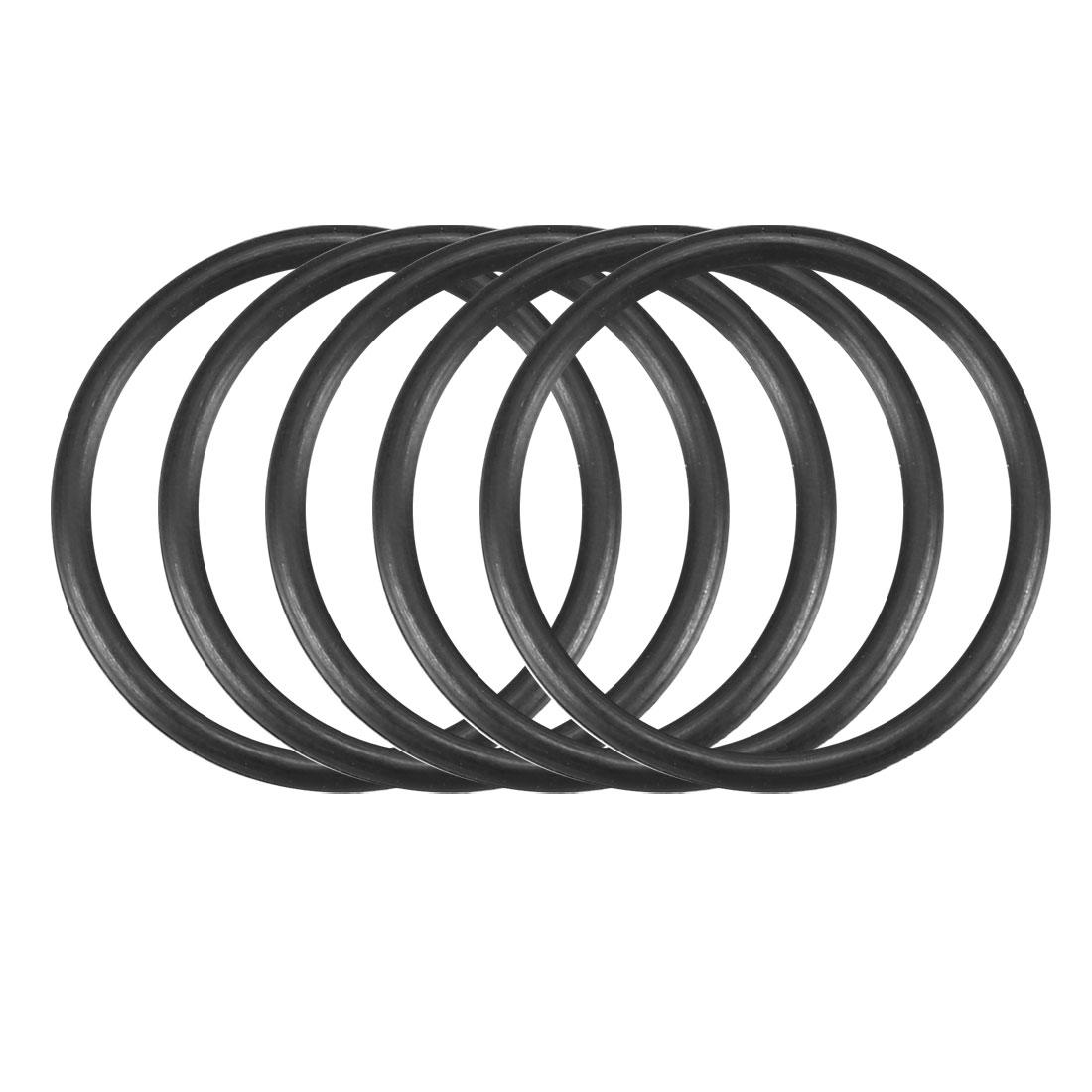 50pcs Black Nitrile Butadiene Rubber NBR O-Ring 16.5mm Inner Dia 1.5mm Width