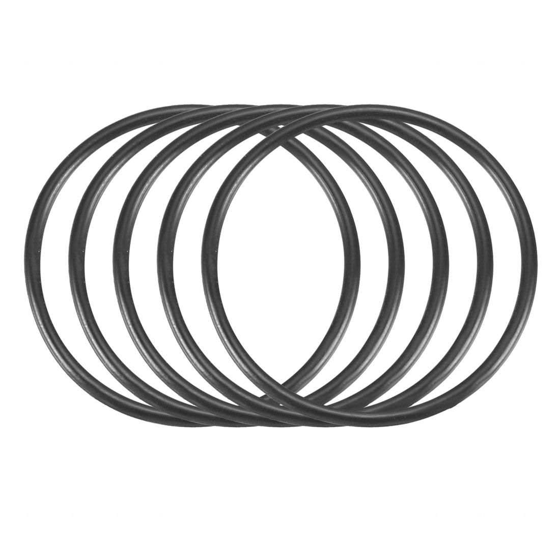 50pcs Black Nitrile Butadiene Rubber NBR O-Ring 31.47mm Inner Dia 1.78mm Width