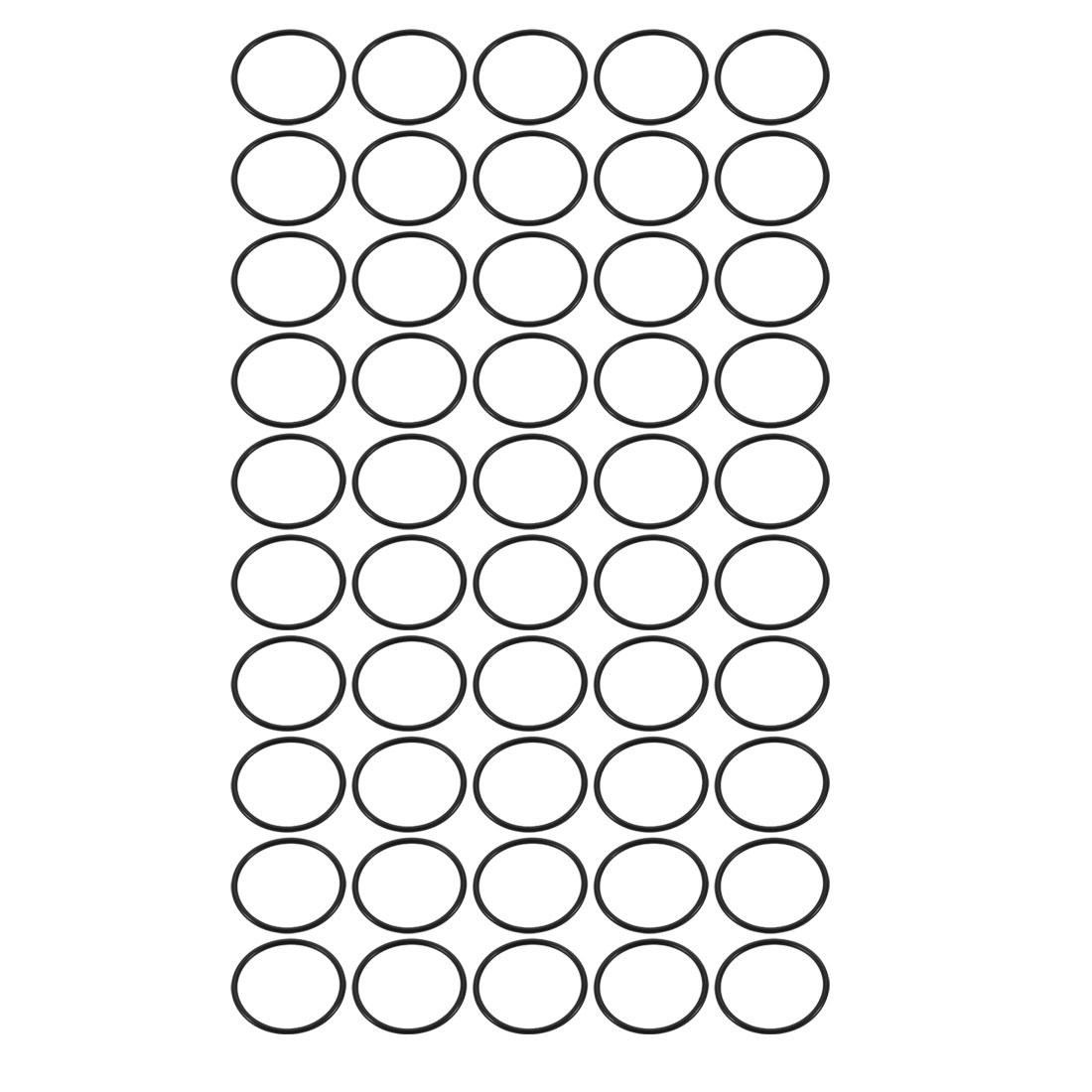 50pcs Black Nitrile Butadiene Rubber NBR O-Ring 26.7mm Inner Dia 1.78mm Width