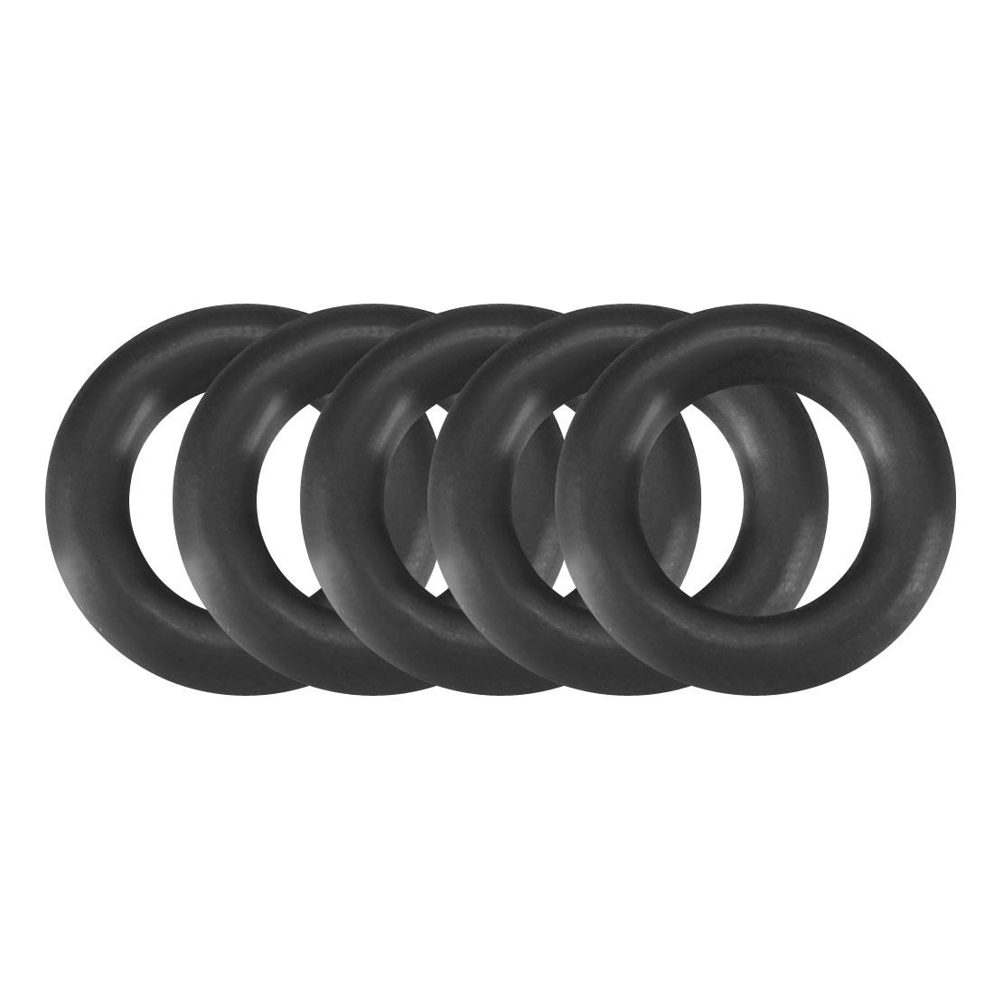 50pcs Black Nitrile Butadiene Rubber NBR O-Ring 4.5mm Inner Dia 1.8mm Width