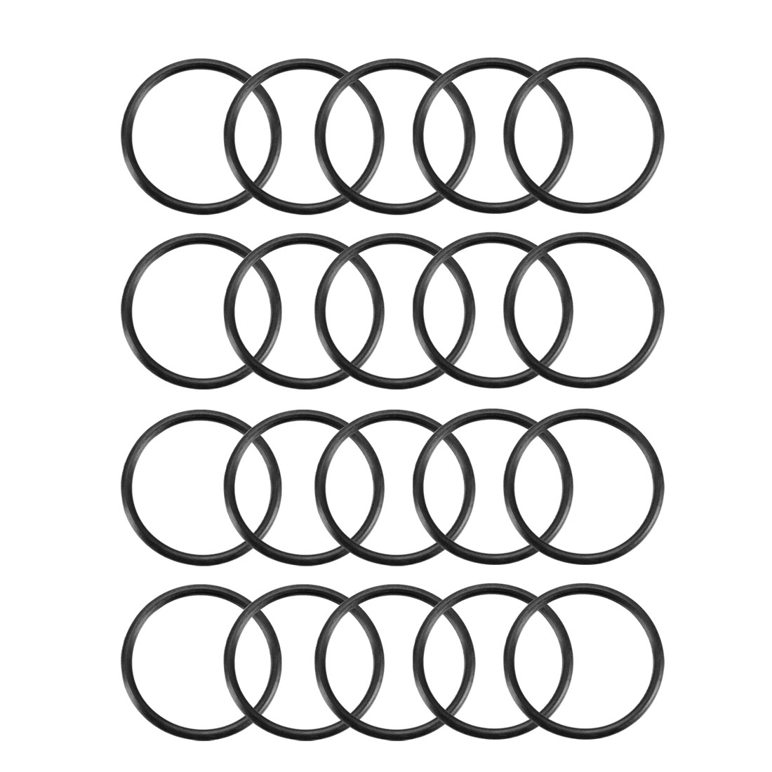 20pcs Black Nitrile Butadiene Rubber NBR O-Ring 16.5mm Inner Dia 1.35mm Width