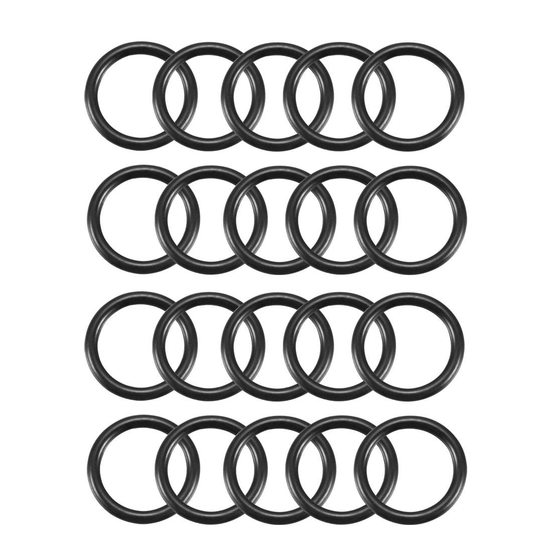 20pcs Black Nitrile Butadiene Rubber NBR O-Ring 9.5mm Inner Dia 1.5mm Width