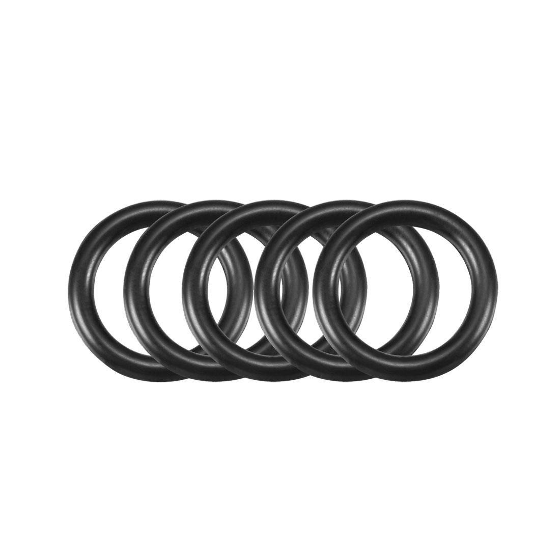 50pcs Black Nitrile Butadiene Rubber NBR O-Ring 11.8mm Inner Dia 2.4mm Width