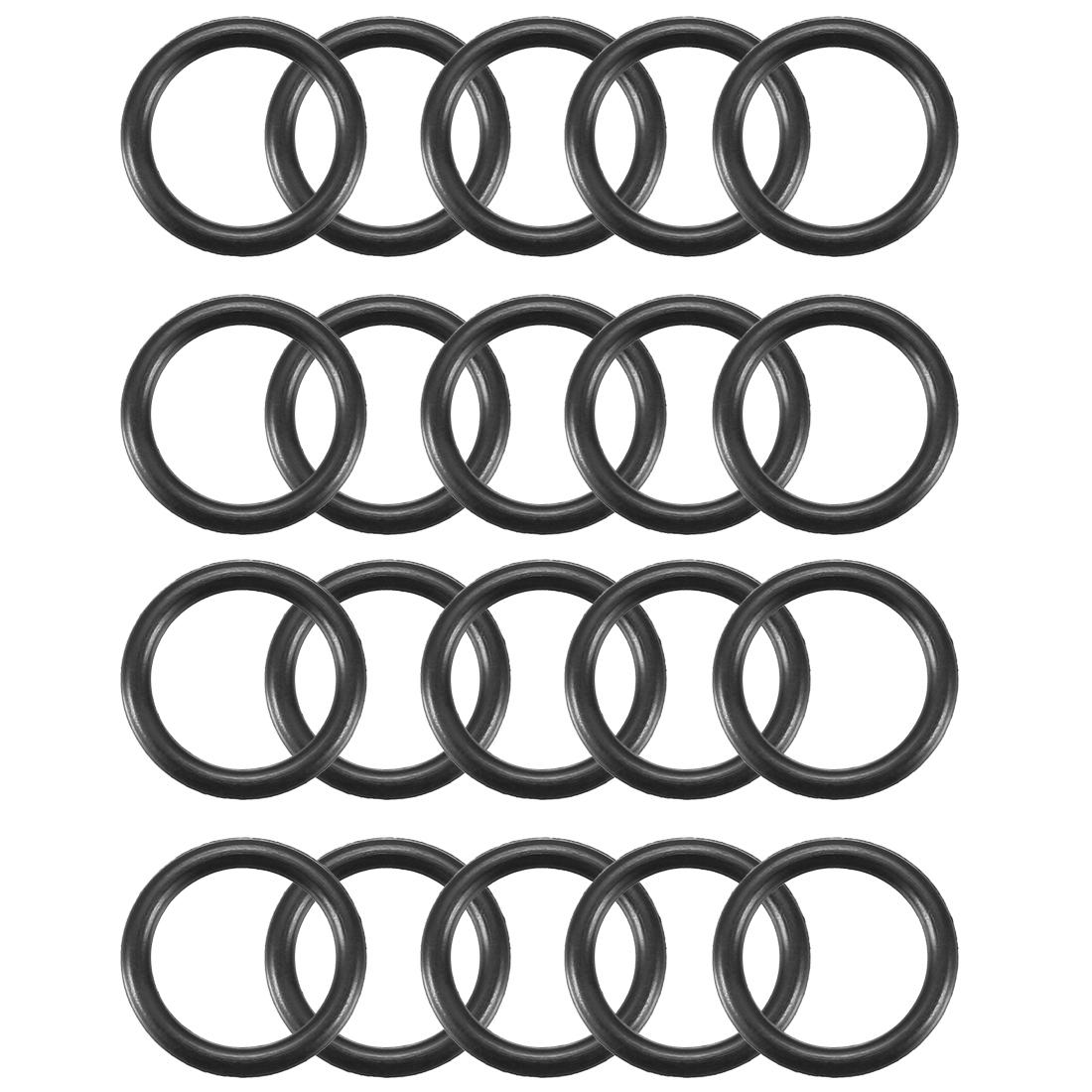 20pcs Black Nitrile Butadiene Rubber NBR O-Ring 8.5mm Inner Dia 1.5mm Width