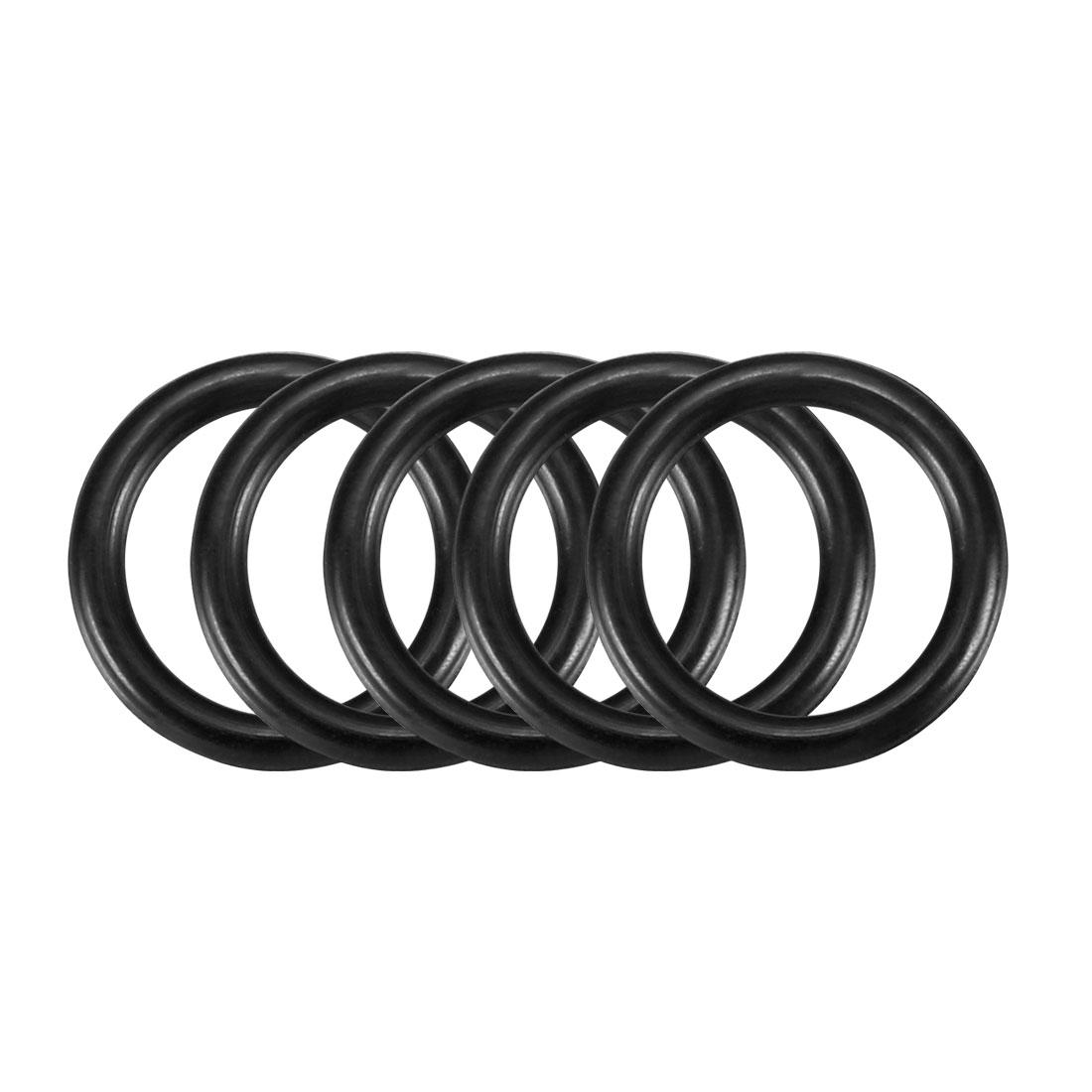 30pcs Black Nitrile Butadiene Rubber NBR O-Ring 8.5mm Inner Dia 1.5mm Width