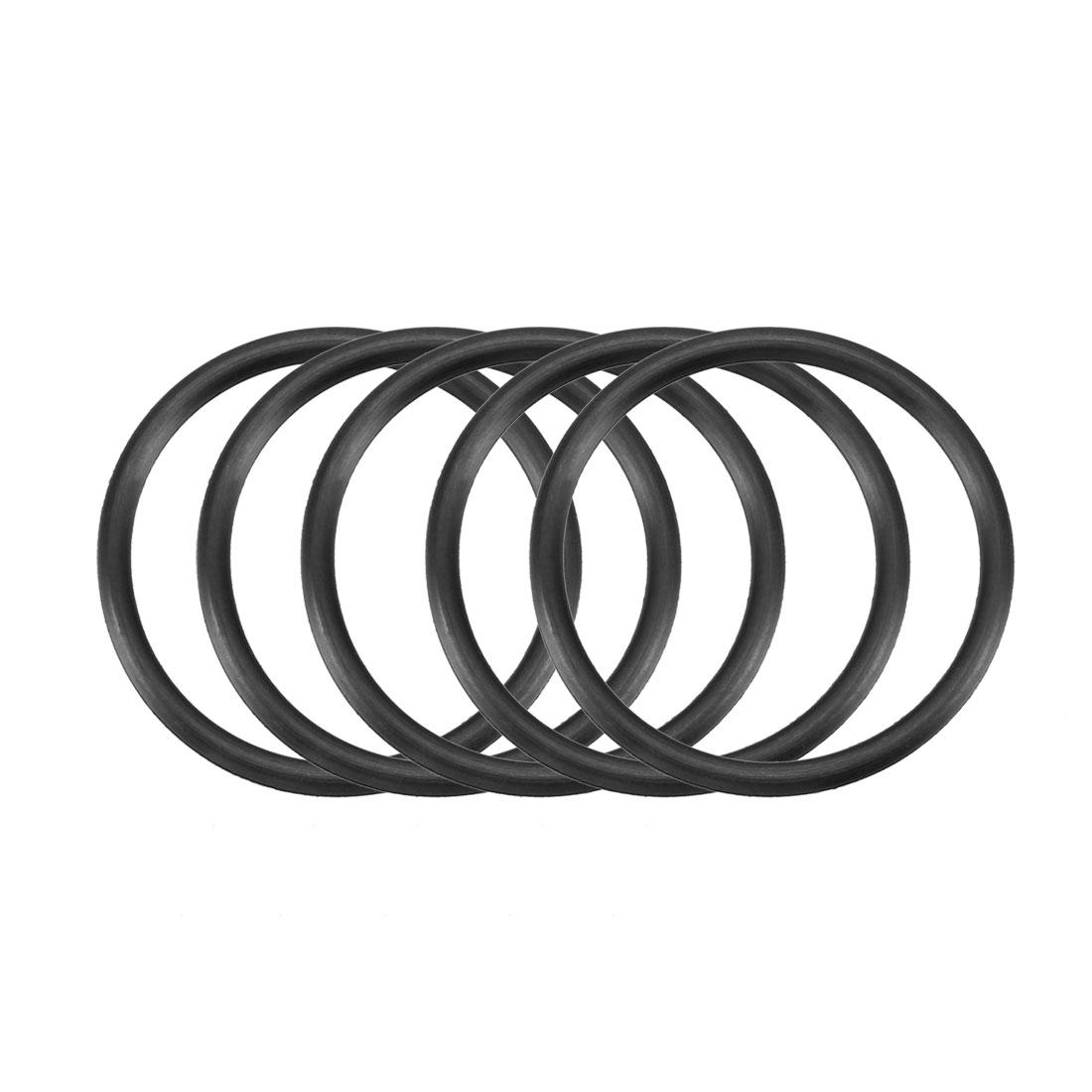 30pcs Black Nitrile Butadiene Rubber NBR O-Ring 29.6mm Inner Dia 2.4mm Width
