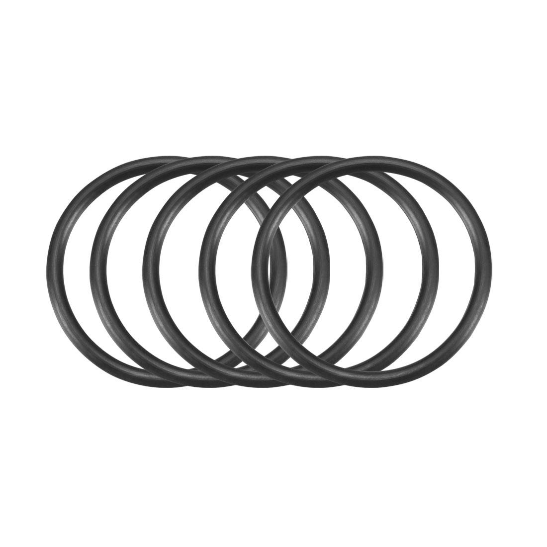 50pcs Black Nitrile Butadiene Rubber NBR O-Ring 29.6mm Inner Dia 2.4mm Width