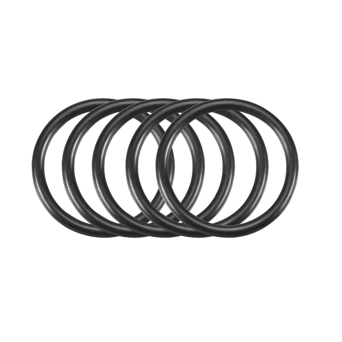 50pcs Black Nitrile Butadiene Rubber NBR O-Ring 21.8mm Inner Dia 2.4mm Width