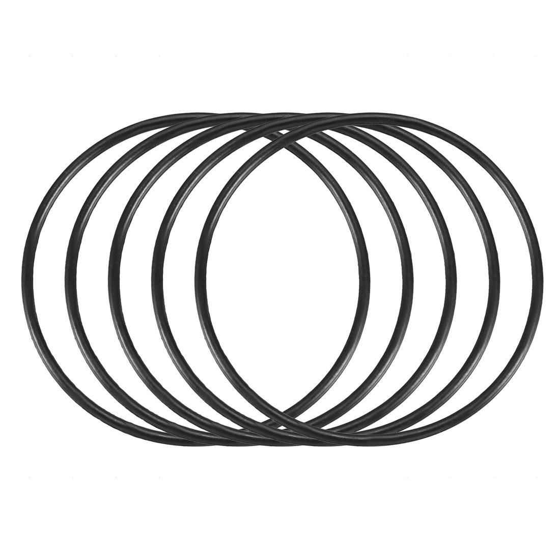 50pcs Black Nitrile Butadiene Rubber NBR O-Ring 28.6mm Inner Dia 1mm Width
