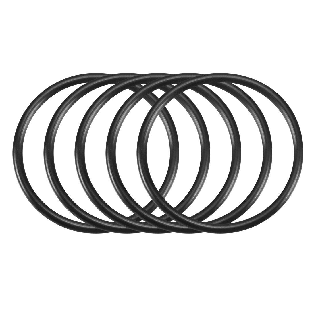 50pcs Black Nitrile Butadiene Rubber NBR O-Ring 31.8mm Inner Dia 2.4mm Width