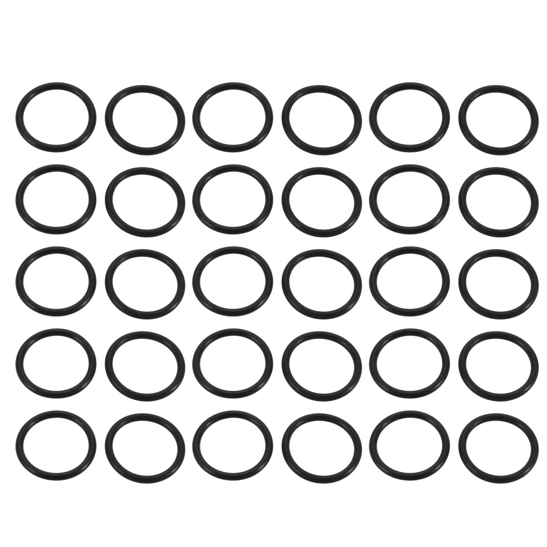 30pcs Black Nitrile Butadiene Rubber NBR O-Ring 16mm Inner Diameter 2mm Wide