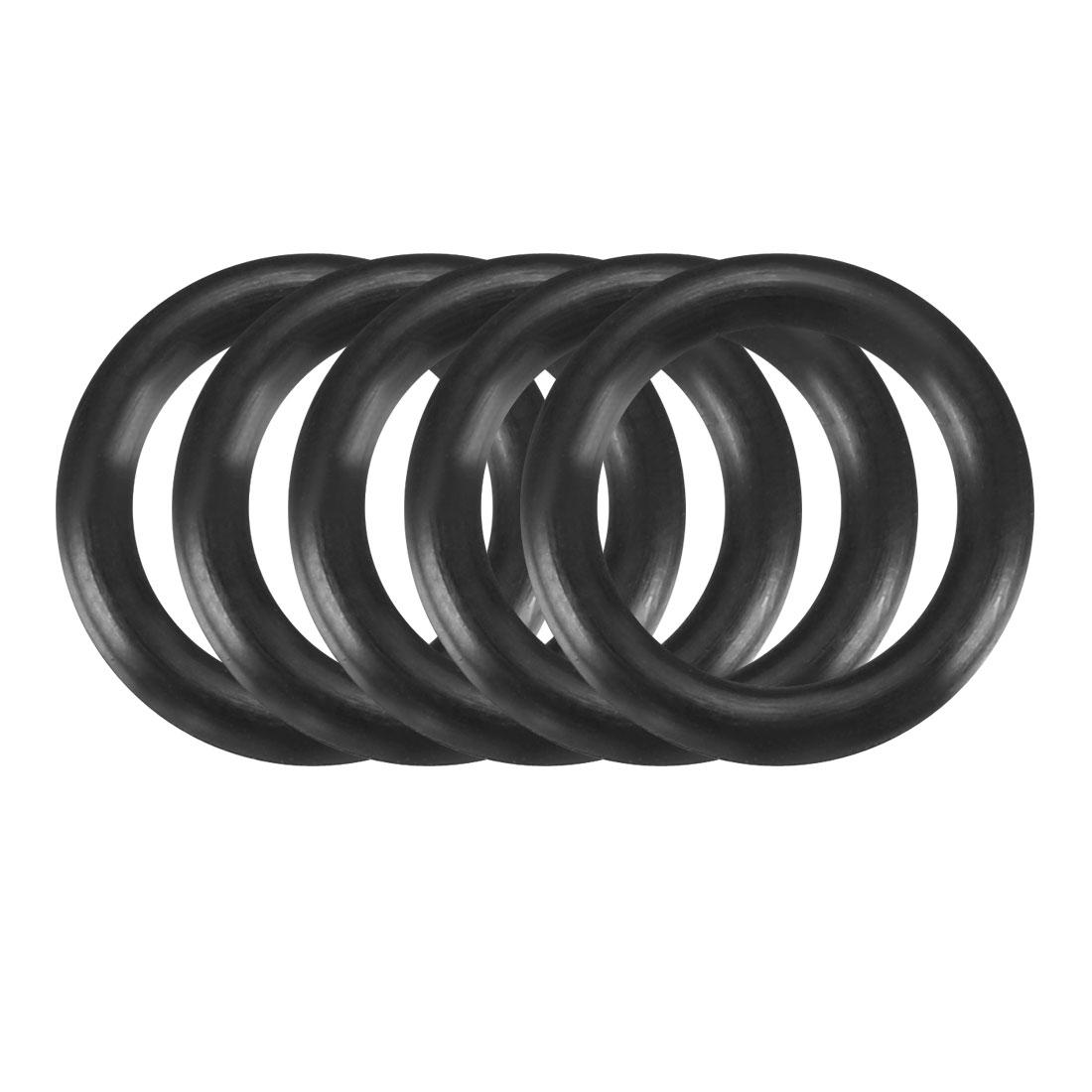 5pcs Black Nitrile Butadiene Rubber NBR O-Ring 10.2mm Inner Dia 2.4mm Width