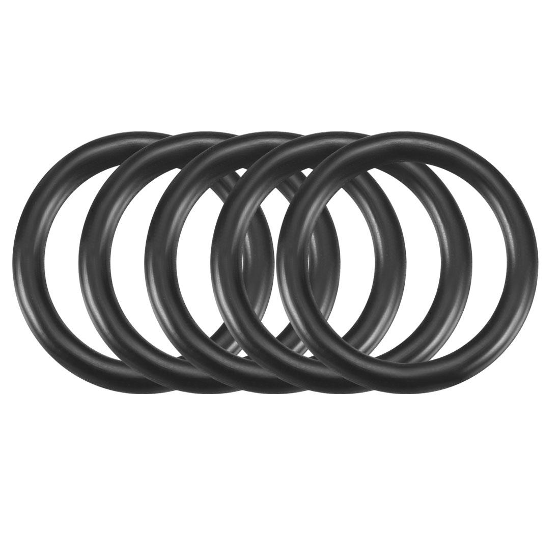 50pcs Black Nitrile Butadiene Rubber NBR O-Ring 10.82mm Inner Dia 1.78mm Width