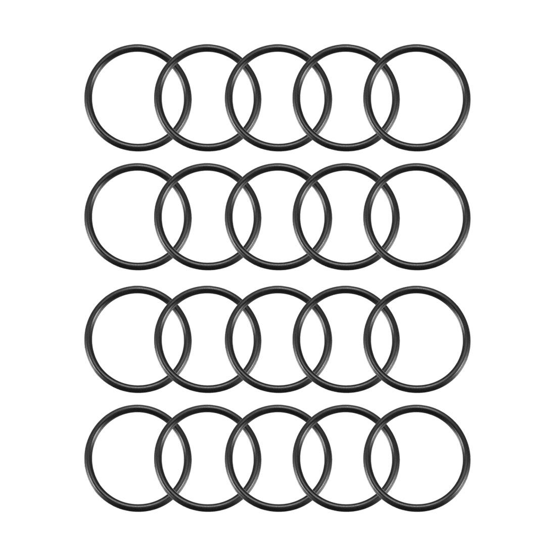 20pcs Black Nitrile Butadiene Rubber NBR O-Ring 18.8mm Inner Dia 1.6mm Width
