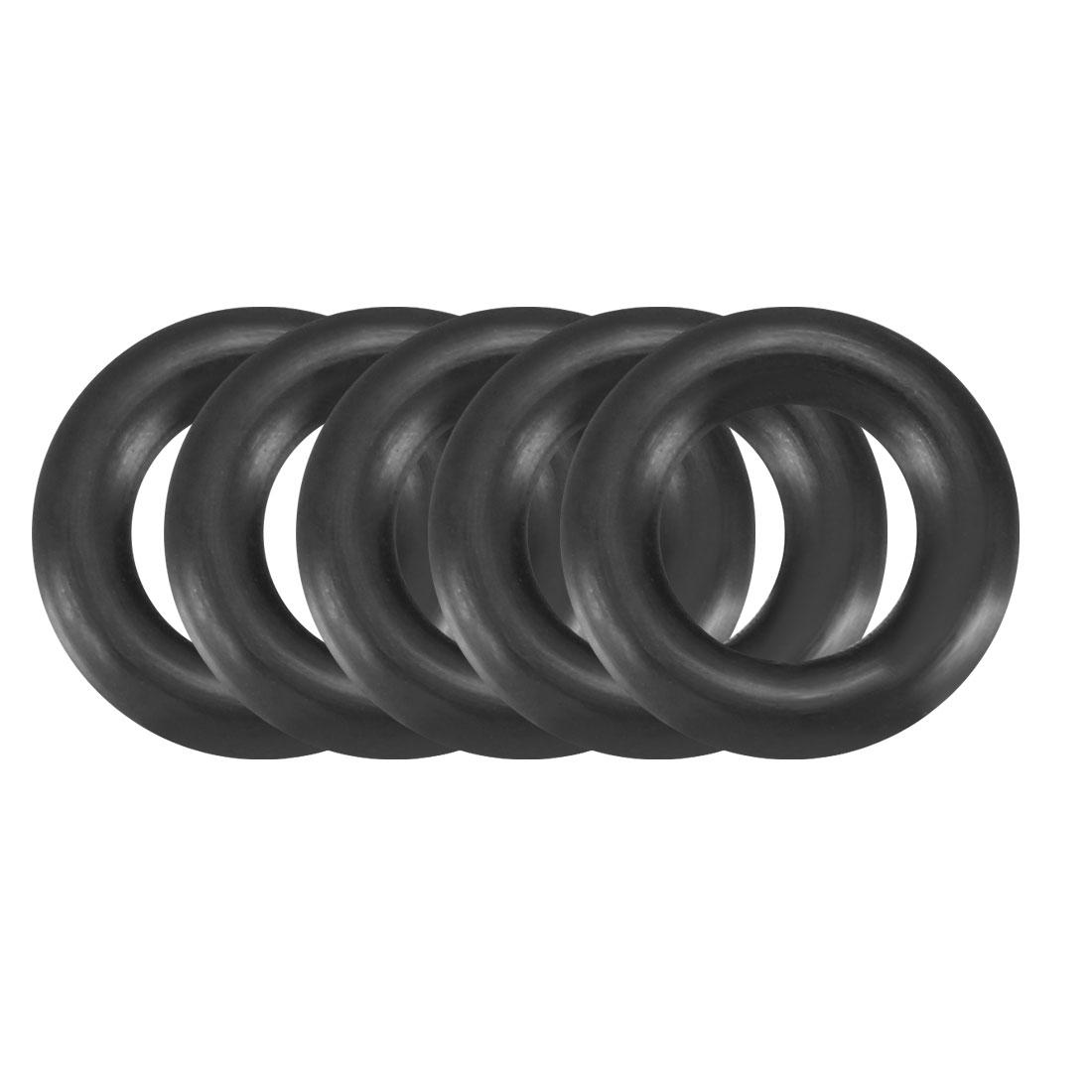 30pcs Black Nitrile Butadiene Rubber NBR O-Ring 6mm Inner Dia 2.5mm Width