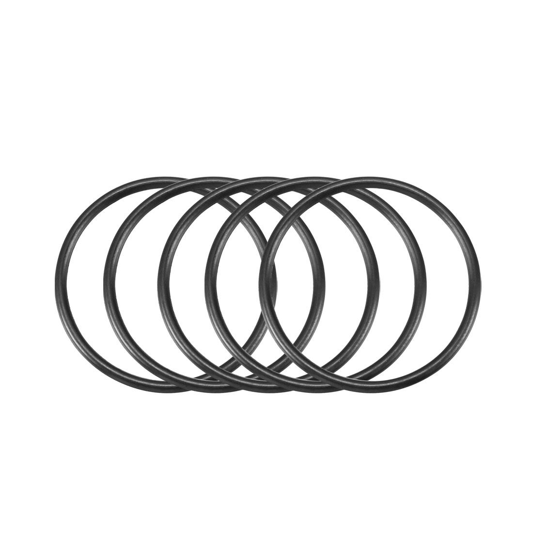 30pcs Black Nitrile Butadiene Rubber NBR O-Ring 23mm Inner Dia 1.5mm Width