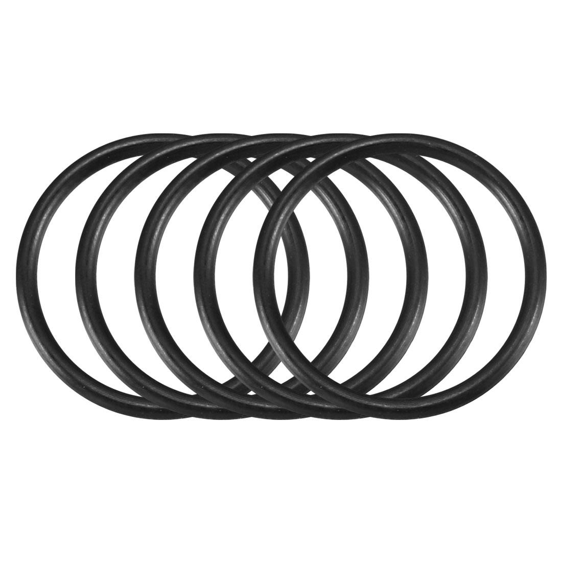 30pcs Black Nitrile Butadiene Rubber NBR O-Ring 14.22mm Inner Dia 1.32mm Width