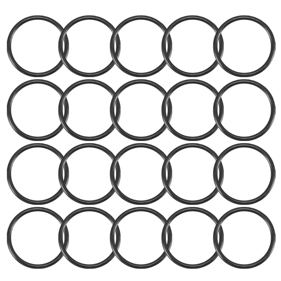 20pcs Black Nitrile Butadiene Rubber NBR O-Ring 6.8mm Inner Dia 0.6mm Width