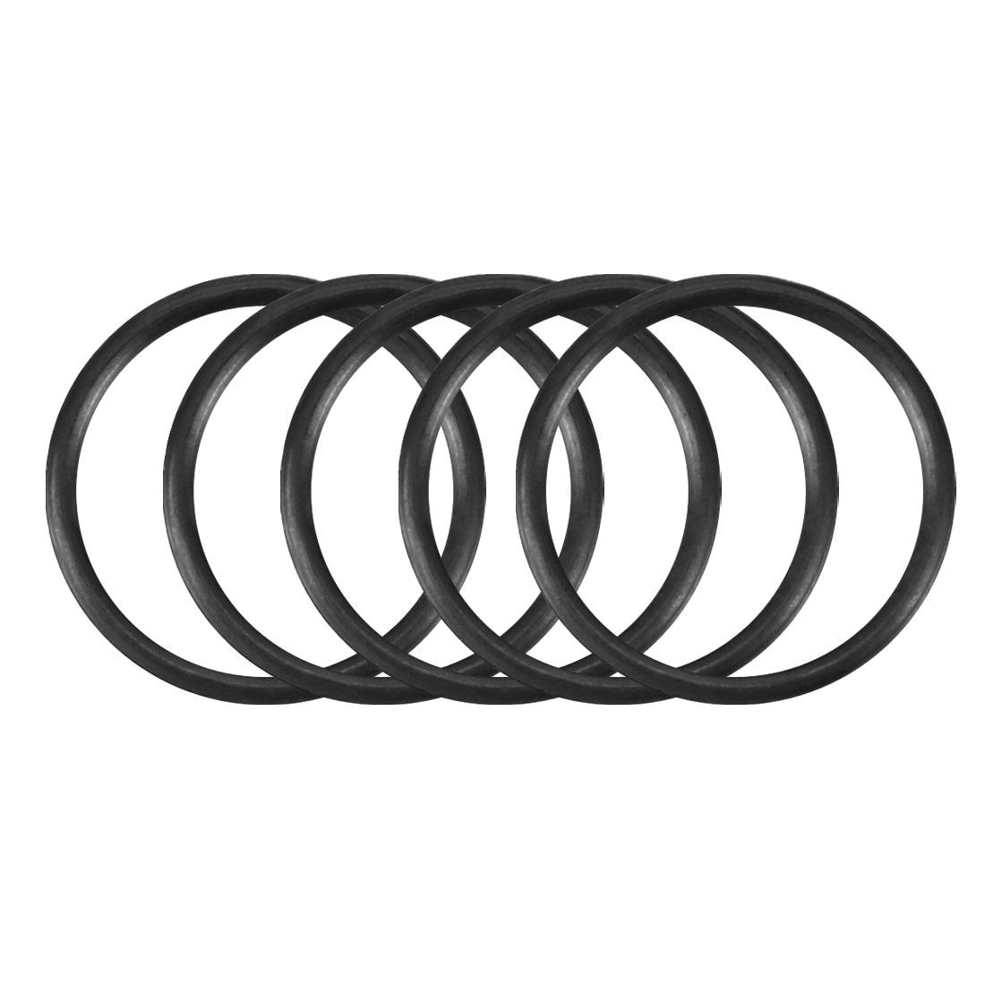30pcs Black Nitrile Butadiene Rubber NBR O-Ring 6.8mm Inner Dia 0.6mm Width