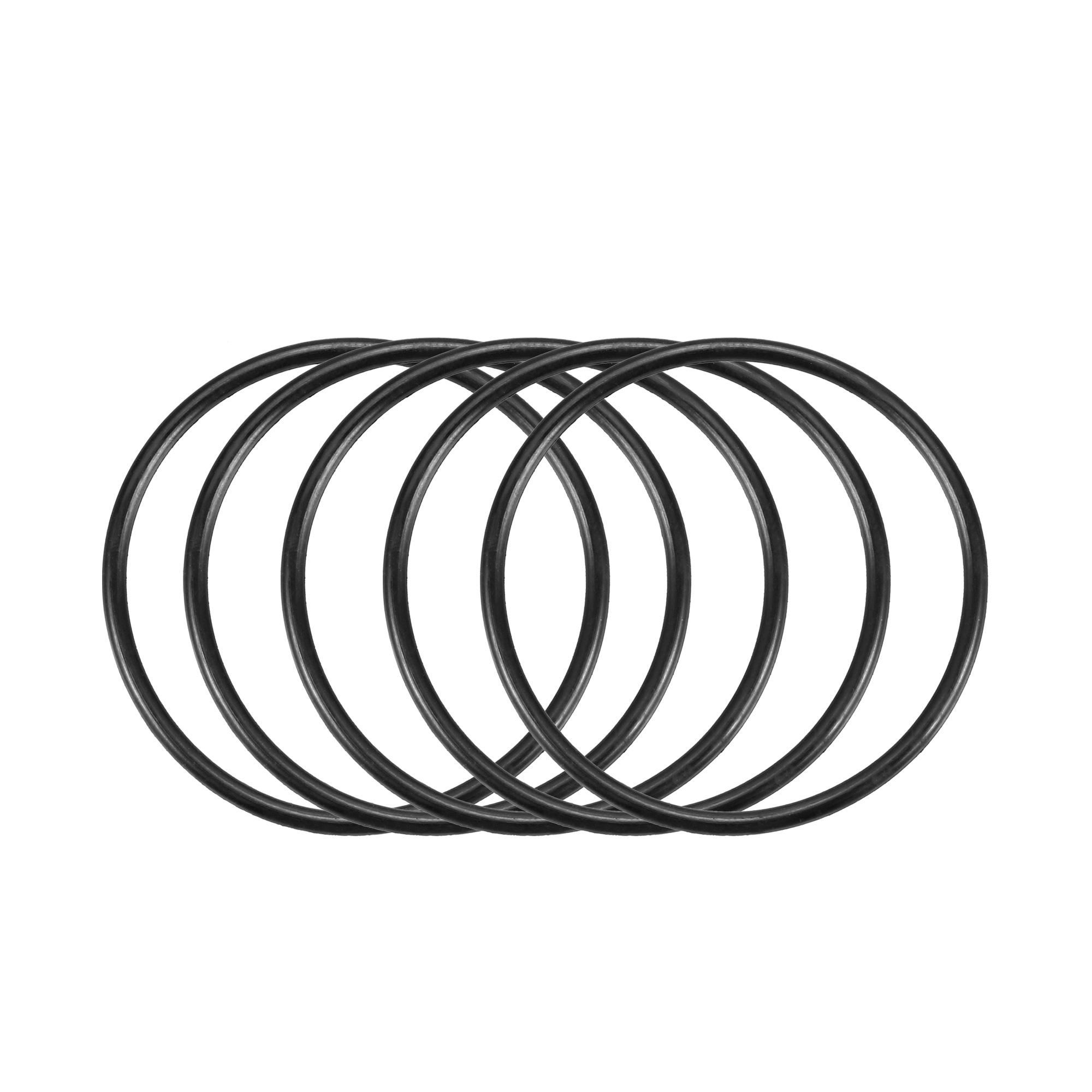 50pcs Black Nitrile Butadiene Rubber NBR O-Ring 33.05mm Inner Dia 1.78mm Width